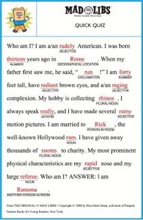 photo regarding Camping Mad Libs Printable referred to as Articulation Coach and Ridiculous Libs - InferCabulary